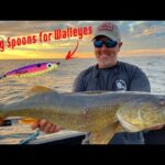 How to Catch Walleyes and Smallmouth Using JIGGING SPOONS and DROP SHOTS!